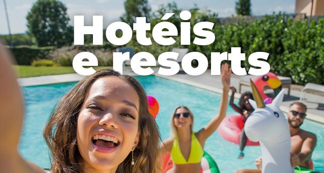 Hotéis e resorts em até 12x sem juros!