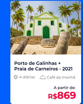 Pacote Porto de Galinhas + Praia de Carneiros (2021) - R$869