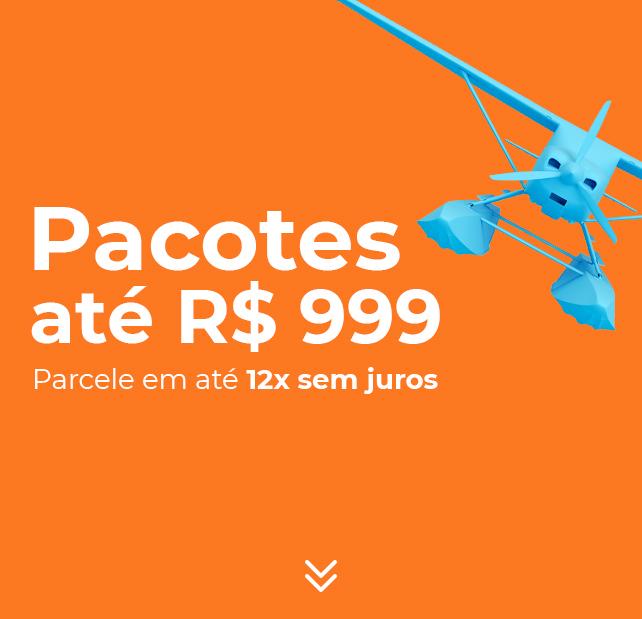 Pacotes até R$999 em até 12x sem juros!