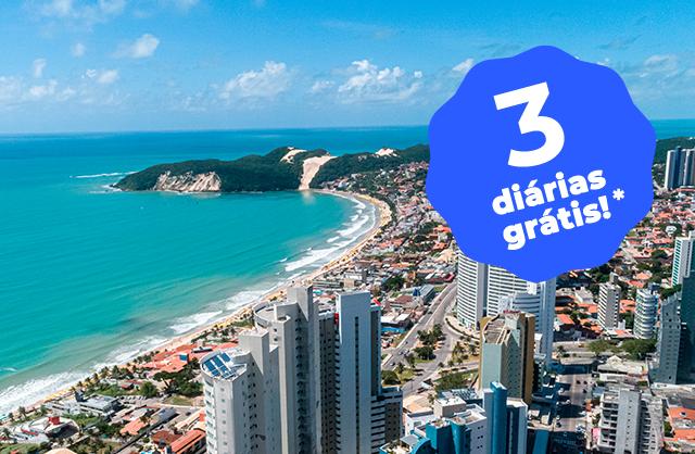 Pacote João Pessoa + Natal + Recife com diárias GRÁTIS (9 ao total, sendo 3 gratuitas) - R$499