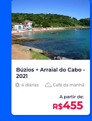Pacote Búzios + Arraial do Cabo (2021) - R$455