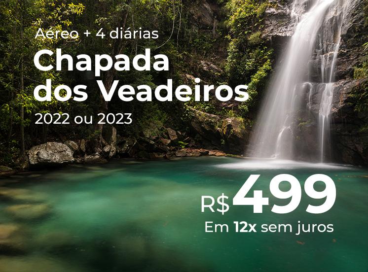 Pacote Chapada dos Veadeiros - R$499