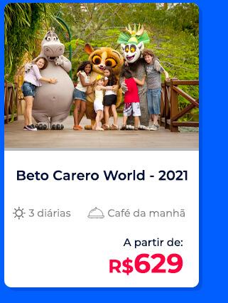 Pacote Beto Carrero World (2021) - R$629