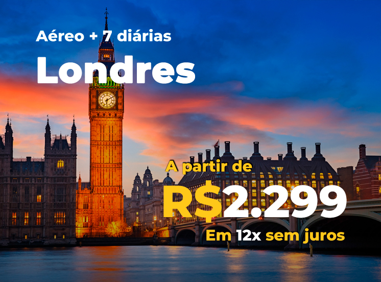 Pacote Londres - R$2299